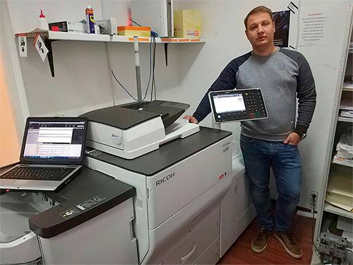 """Ricoh C5200S в типографии """"Copyprint"""""""