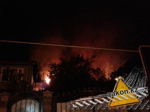 Пожар в типографии Алматы