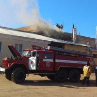 Пожар в частной типографии в Ульяновске