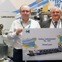 Gallus отмечает продажу 100-й машины Labelmaster